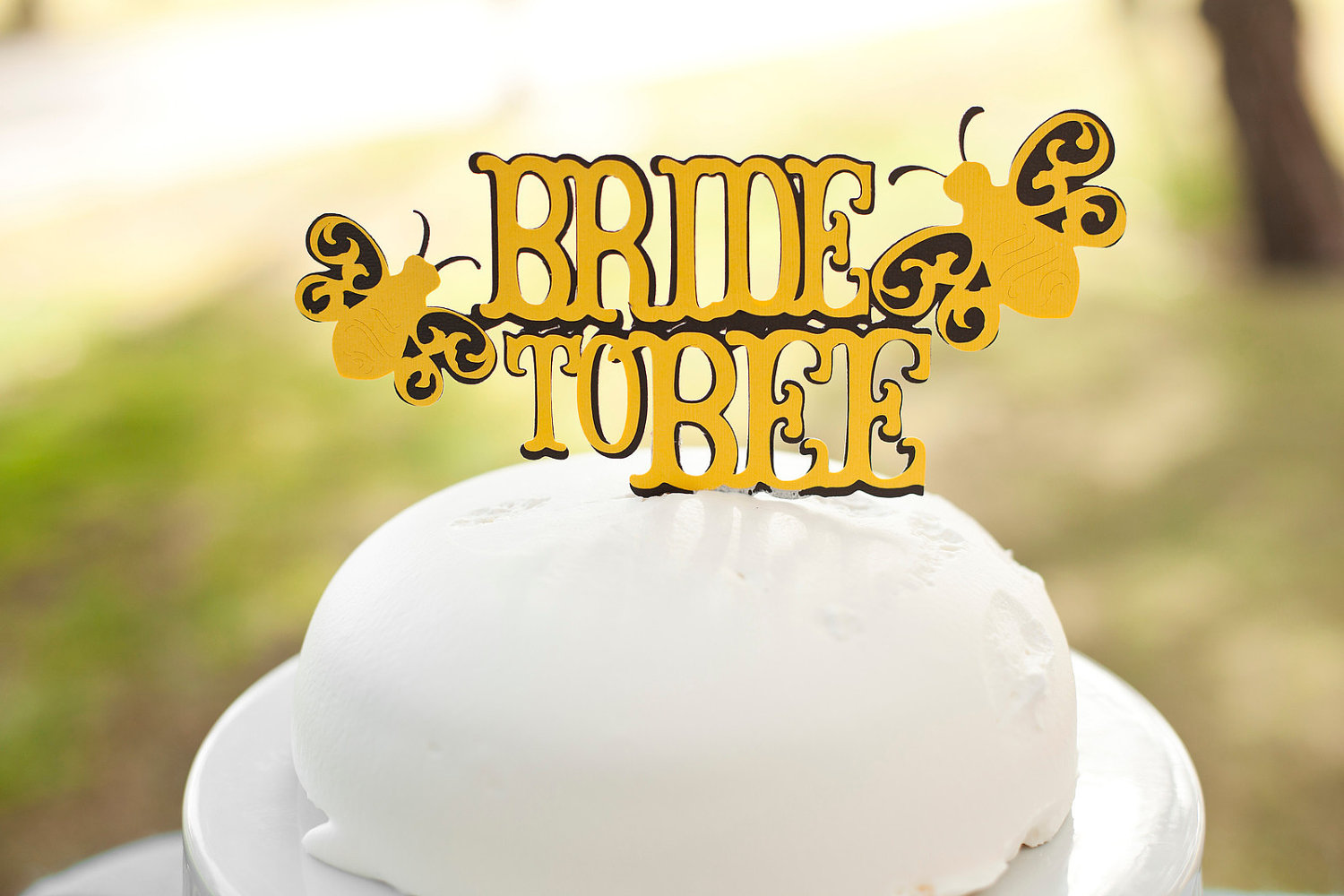 Adorable wedding cake topper bride to bee OneWed.com