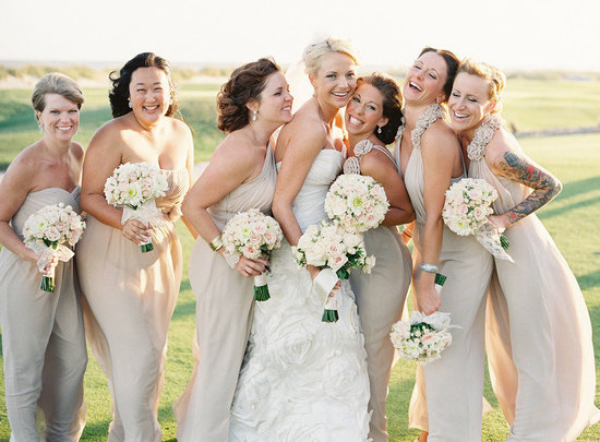 Mix-and-match-neutral-bridesmaids