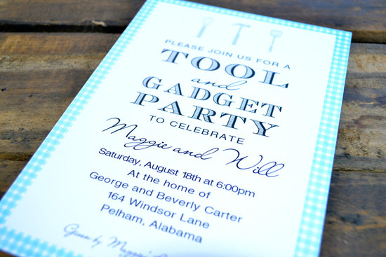 tool and gadget couples wedding shower