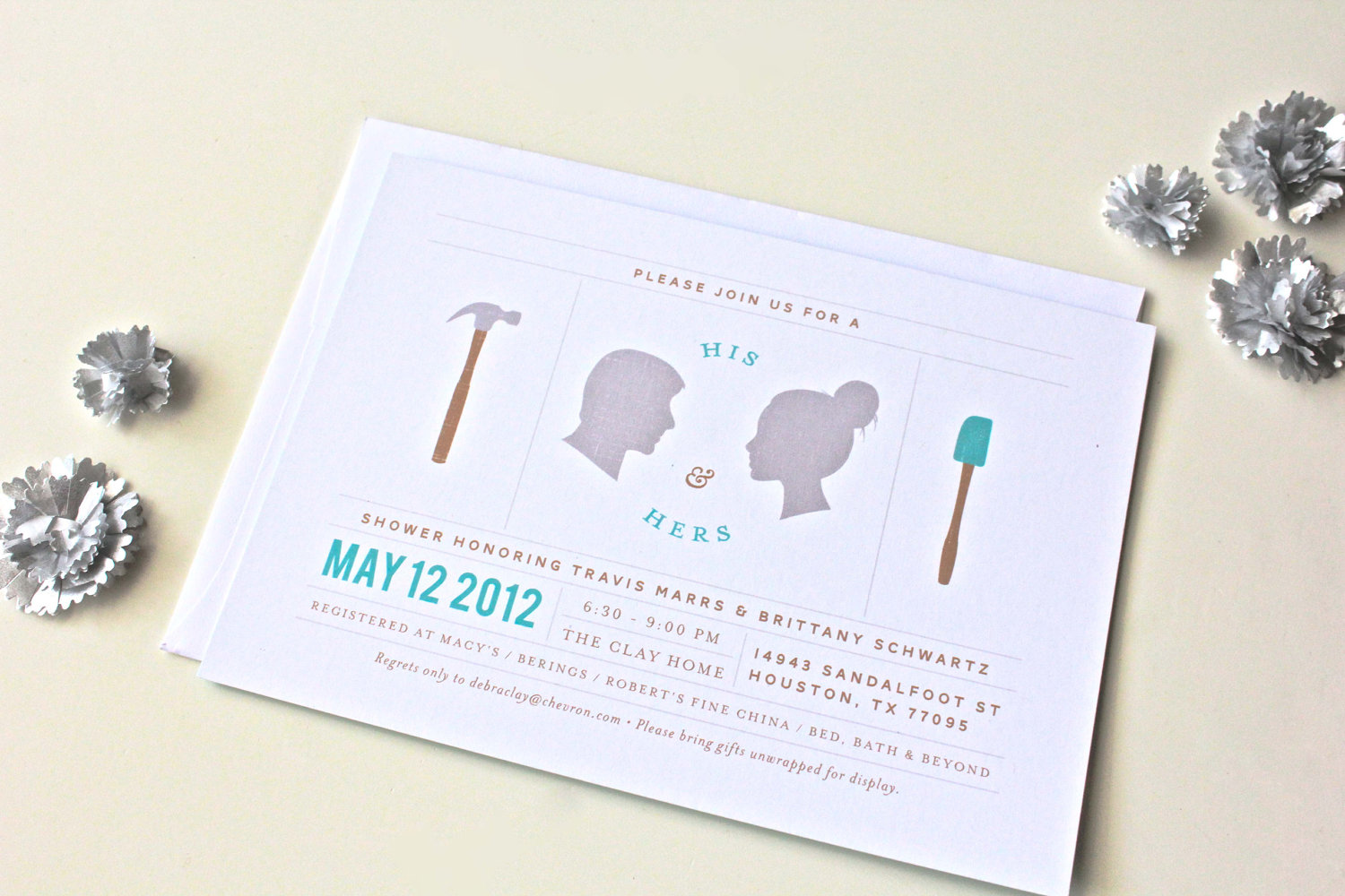 Wedding Shower Invitations For Couples: His And Hers Couples Wedding Shower Invitations