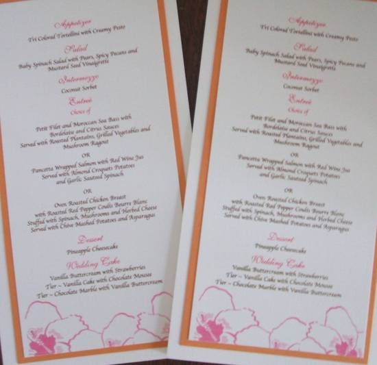 hibiscus matted menu
