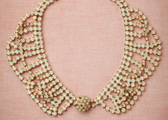 Peter Pan Collar Wedding Necklace