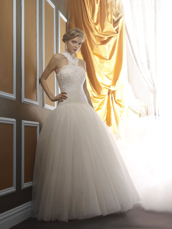 Wedding dress by Birnbaum and Bullock 2013 Bridal April 2