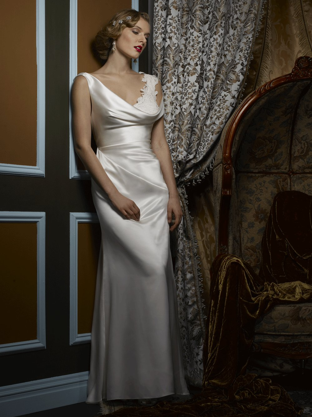 Wedding dress by Birnbaum and Bullock 2013 Bridal Elaina