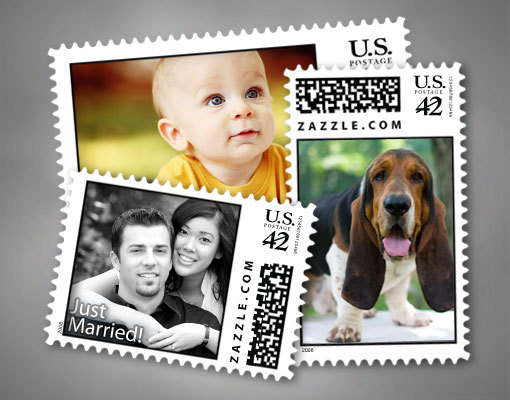 photo of Put your own stamp on your wedding invitations... Literally!