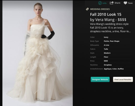 Vera Wang Wedding Dress in OneWediPad