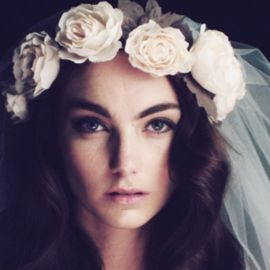romantic floral wedding crowns cult gaia daisy ivory