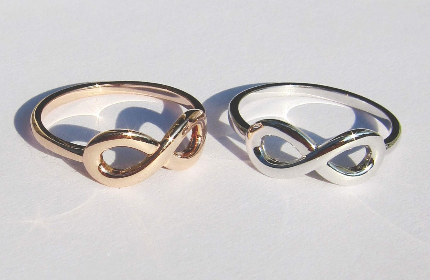 His And Hers Infinity Knot Wedding Rings