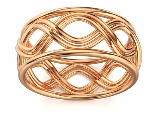 Rose gold wedding band infinity style