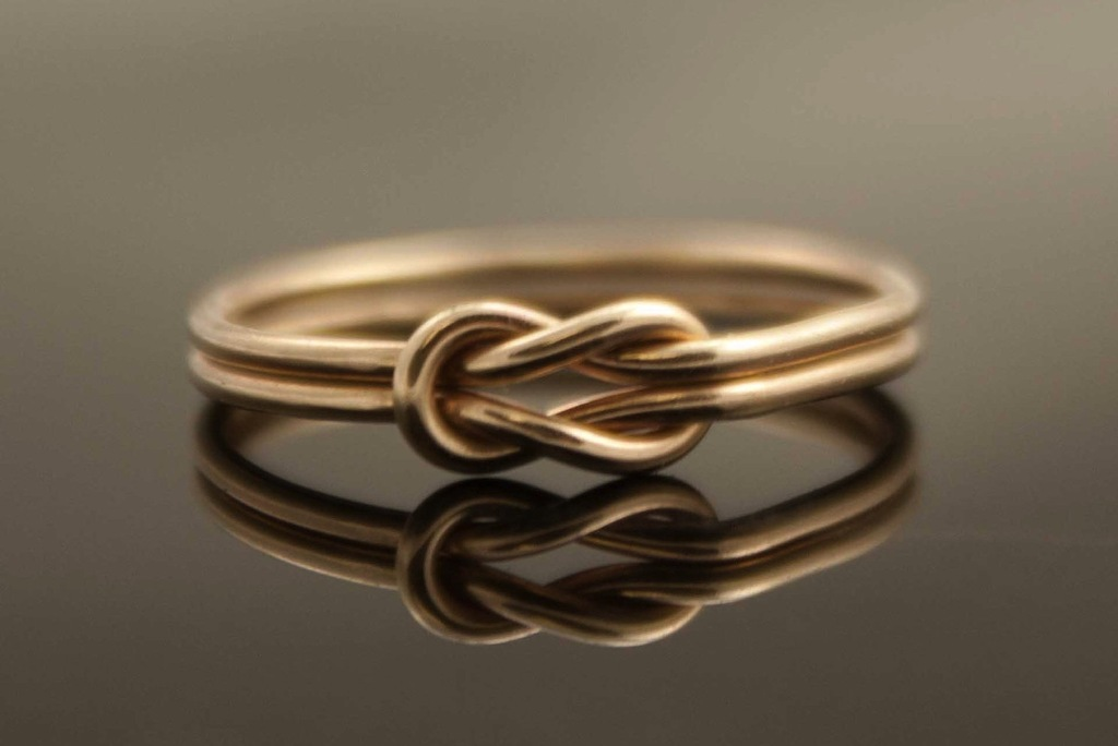 Double band infinity heart wedding ring for Infinity design wedding ring