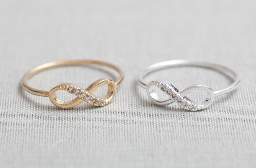 Gold and Silver Eternity wedding bands