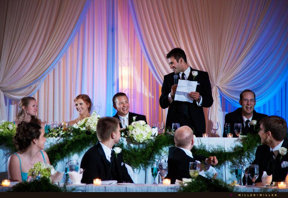 Best Man Wedding Toasts Chicago Reception Onewed Com