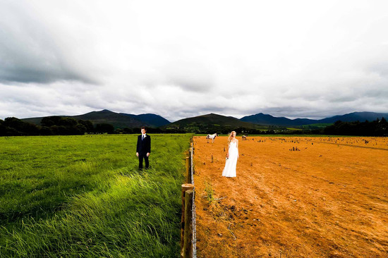 The grass is always greener inspiring wedding photo of the day