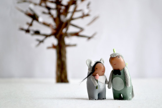 Cute Custom Wedding Cake Toppers by RoyalMint 1