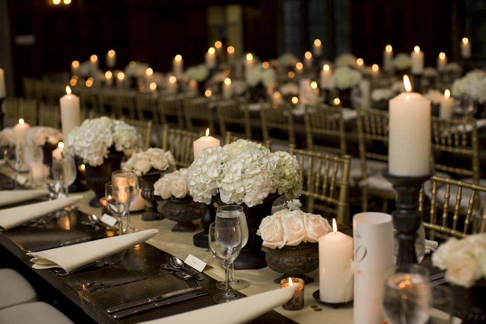 Elegant wedding reception decor candles for Cheap elegant wedding decorations