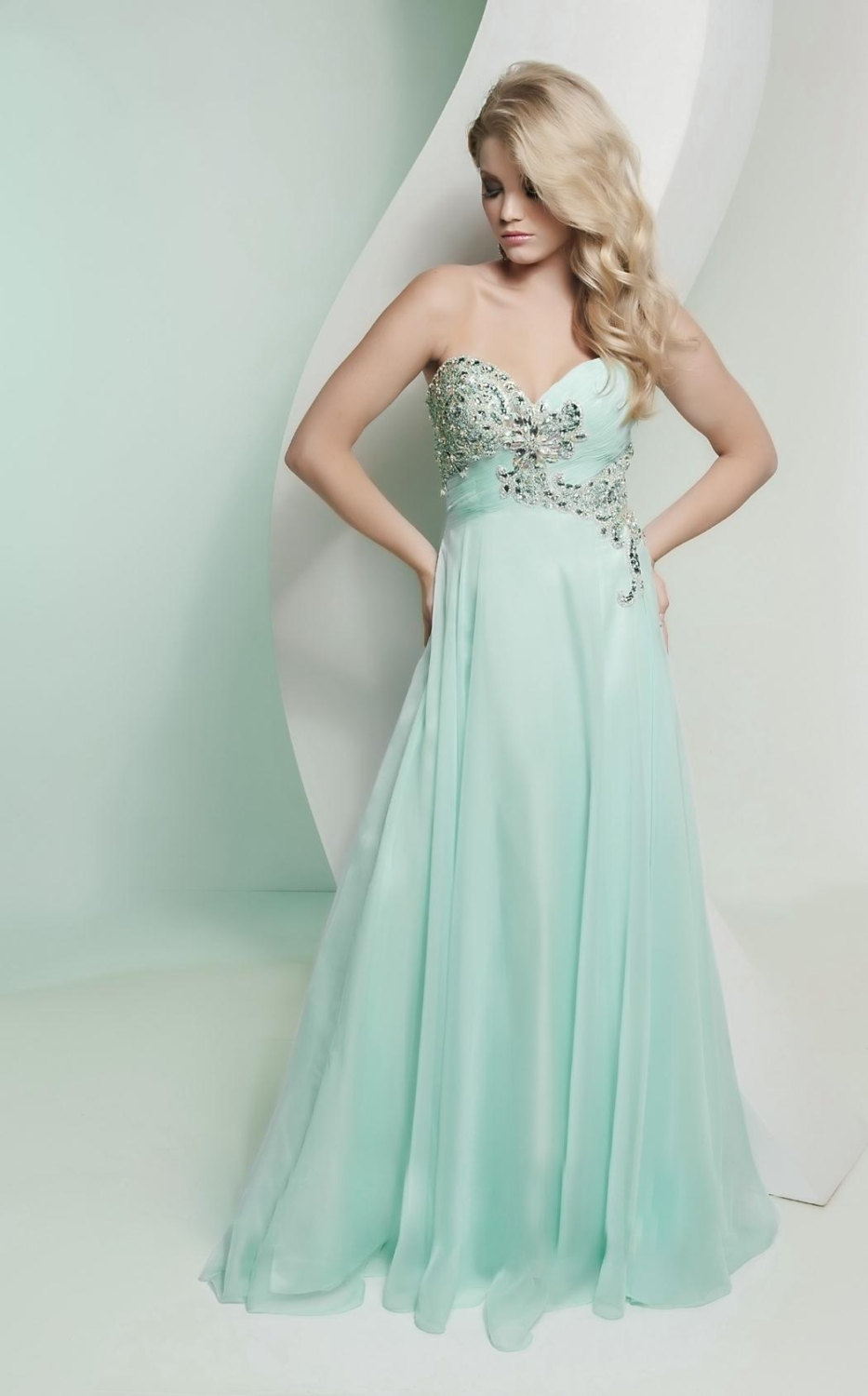 Pastel mint bridesmaid dress with beading for Dresses for wedding bridesmaid