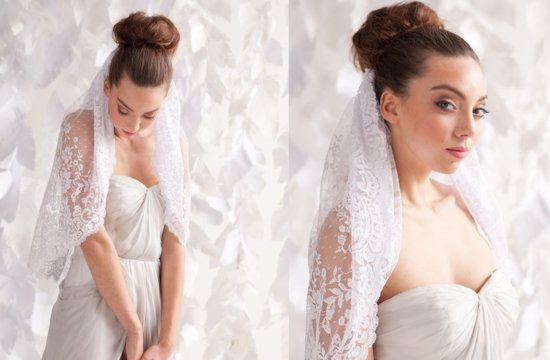 lace mantilla bridal veil
