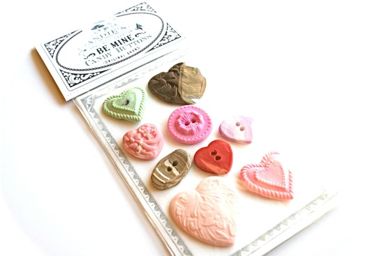 Edible wedding favors vintage candy buttons
