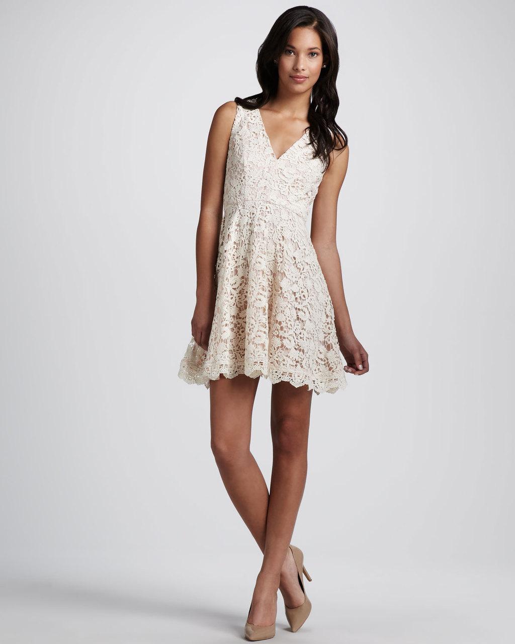 crochet lace bridesmaid dress