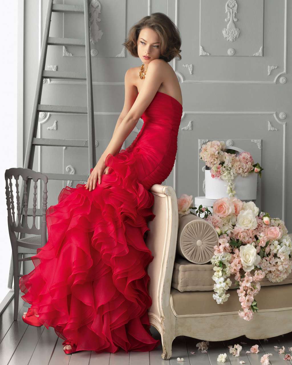 Bright-red-ruffle-mermaid-bridesmaid-dress.full