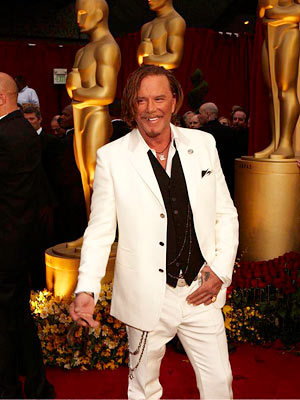 Mickey Rourke at the Oscars