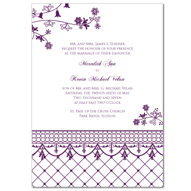 Amethyst Floral Lattice Embellishments