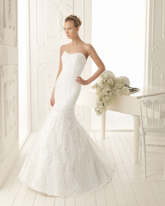 Aire Barcelona Wedding Dress 2013 Vintage Bridal Collection Verso