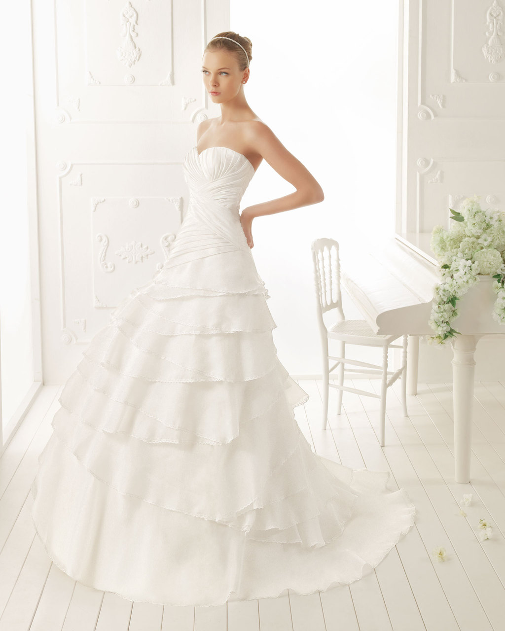 Aire Barcelona Wedding Dress 2013 Vintage Bridal Collection Verne