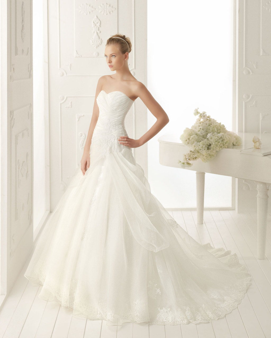 Aire Barcelona Wedding Dress 2013 Vintage Bridal Collection Vancouver