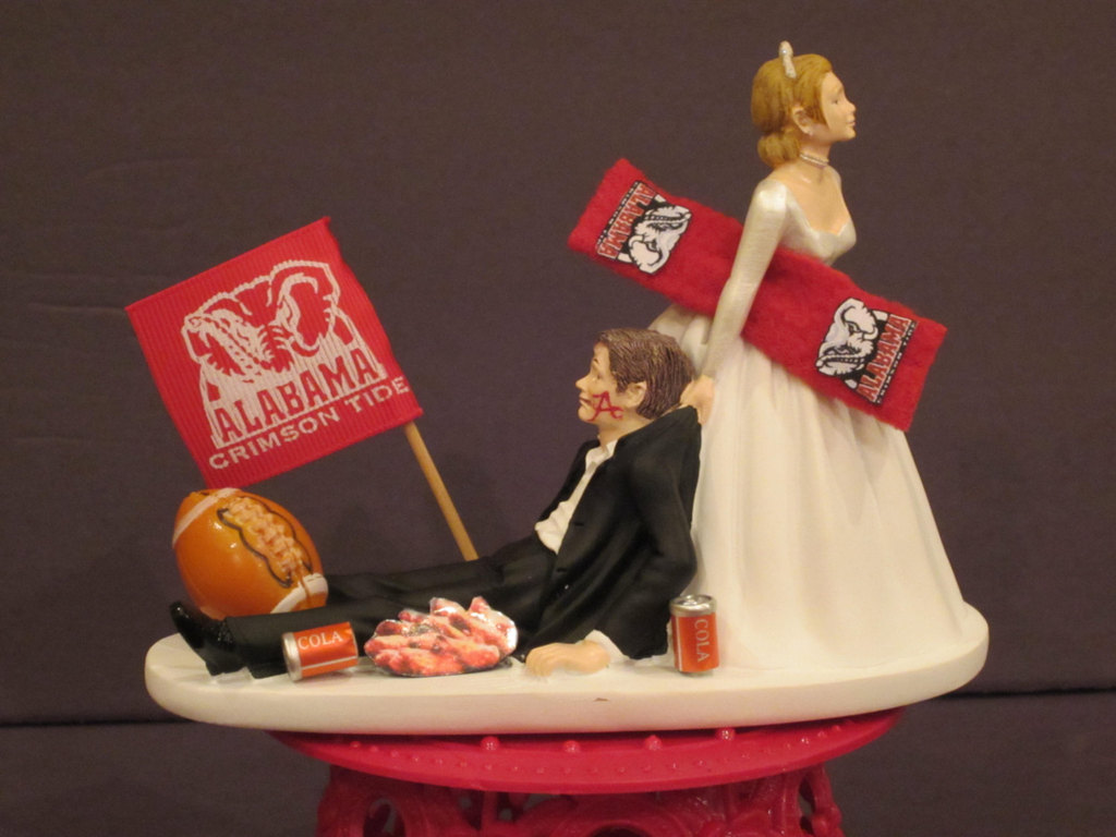 Funny wedding cake topper basketball obsessed groom