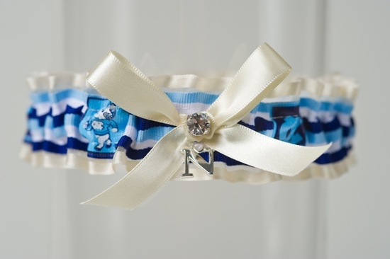 March Madness Wedding Ideas Bridal Garter