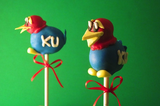 March Madness Wedding Ideas KU Cake Pops