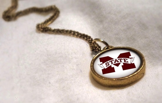 M State antique pendant for March Madness weddings