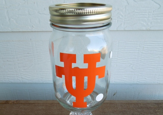 Texas U redneck wine glass