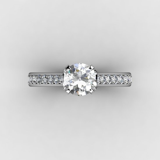 1.5 ct white gold custom diamond engagement ring