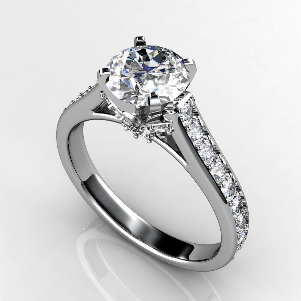 1.5 ct white gold diamond engagement ring