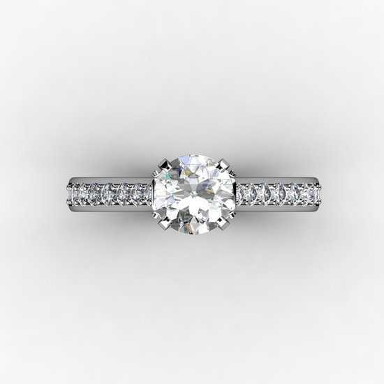 1.5 ct white gold diamond engagement ring top