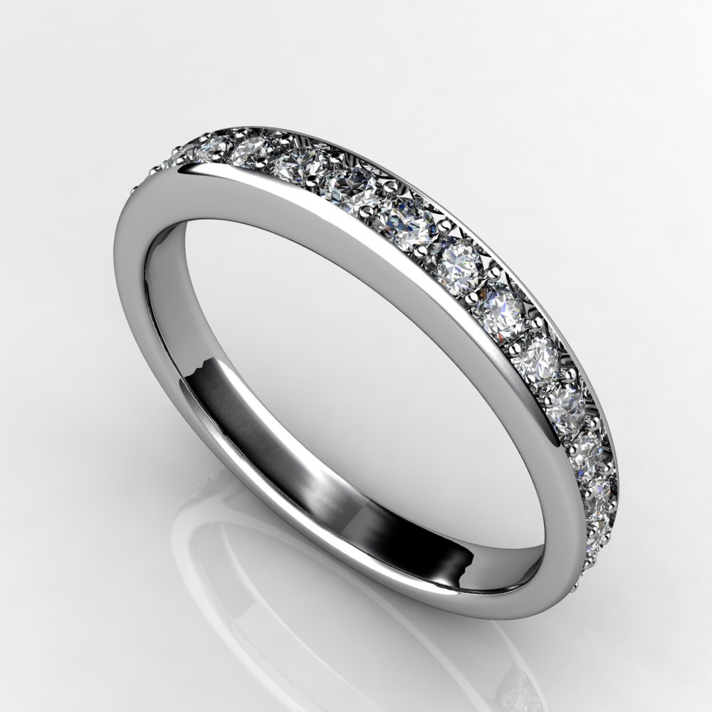 custom designed diamond wedding band white gold