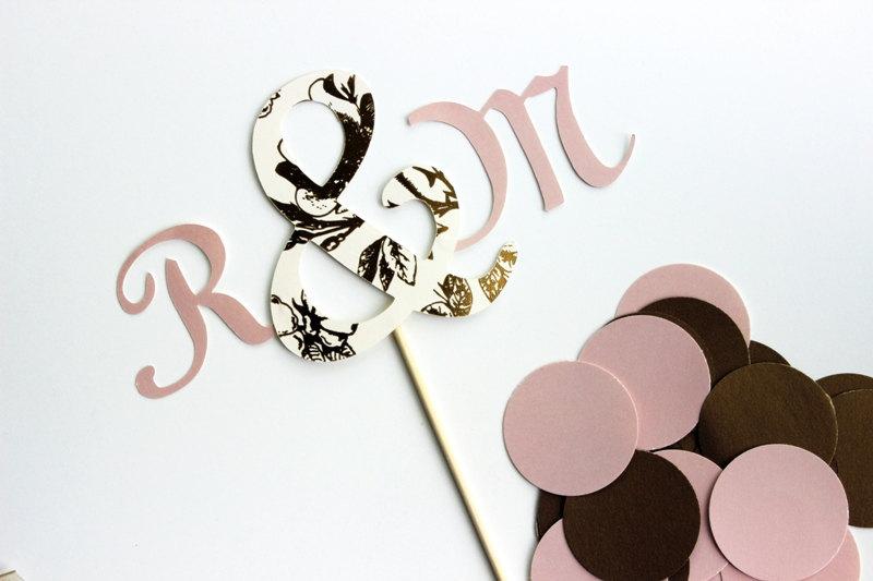 Mauve-ivory-chocolate-monogram-wedding-cake-topper.full
