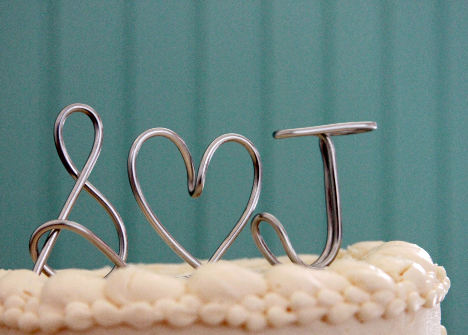 silver wedding cake toppers
