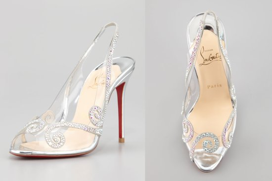 Illusion wedding shoes for 2013 brides Glass Slipper Louboutins