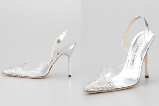 Illusion wedding shoes for 2013 brides Glass Slipper Manolos