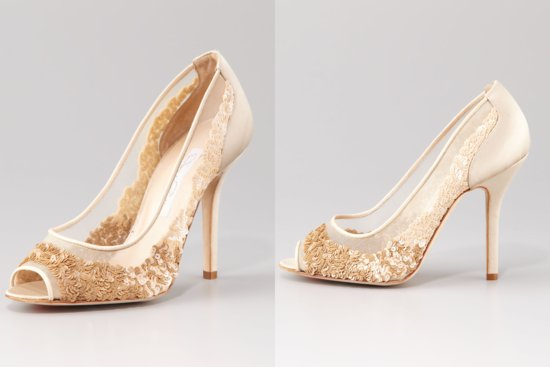 Illusion wedding shoes for 2013 brides Oscar de la Renta