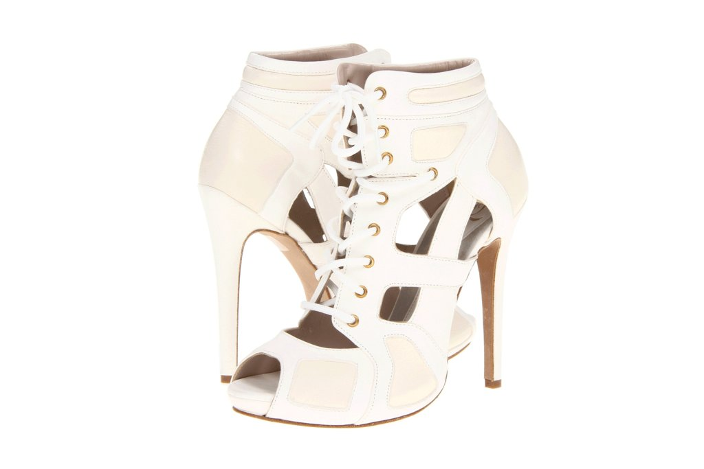 Illusion wedding shoes for 2013 brides cutout booties