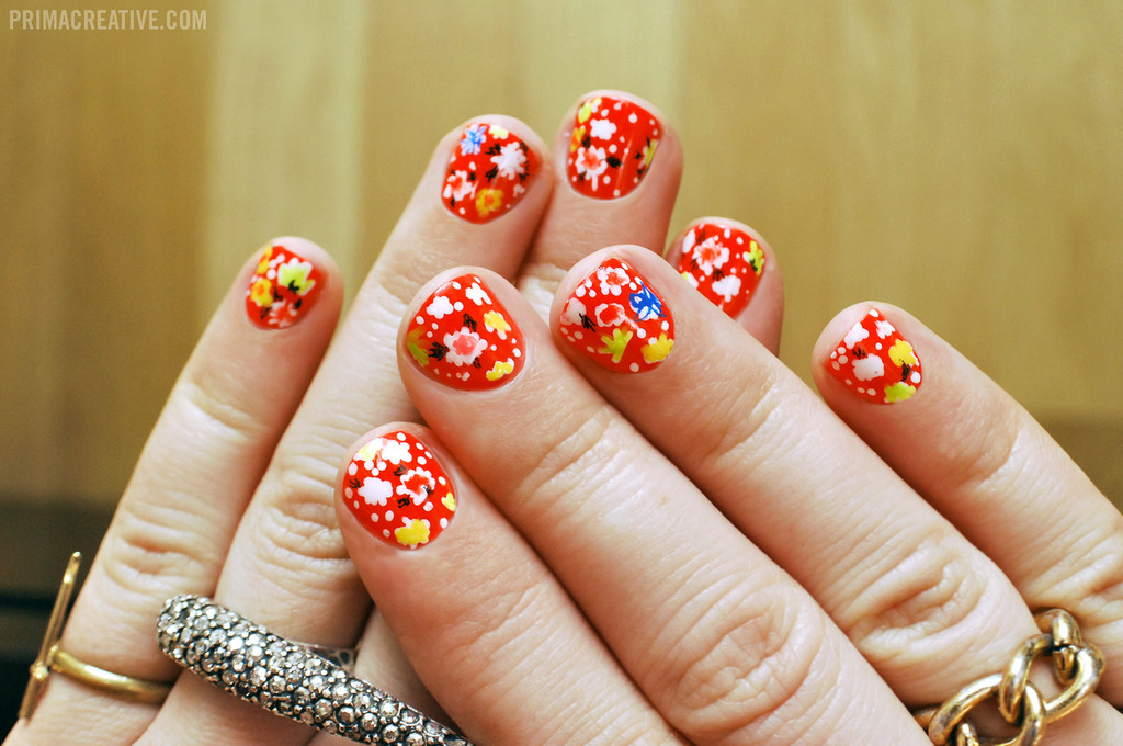 Bright-red-with-floral-wedding-nails.full