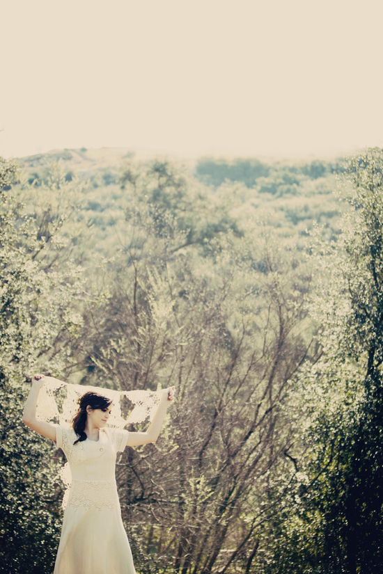Bridal Beauty Inspiration Veiled Outdoor Bride