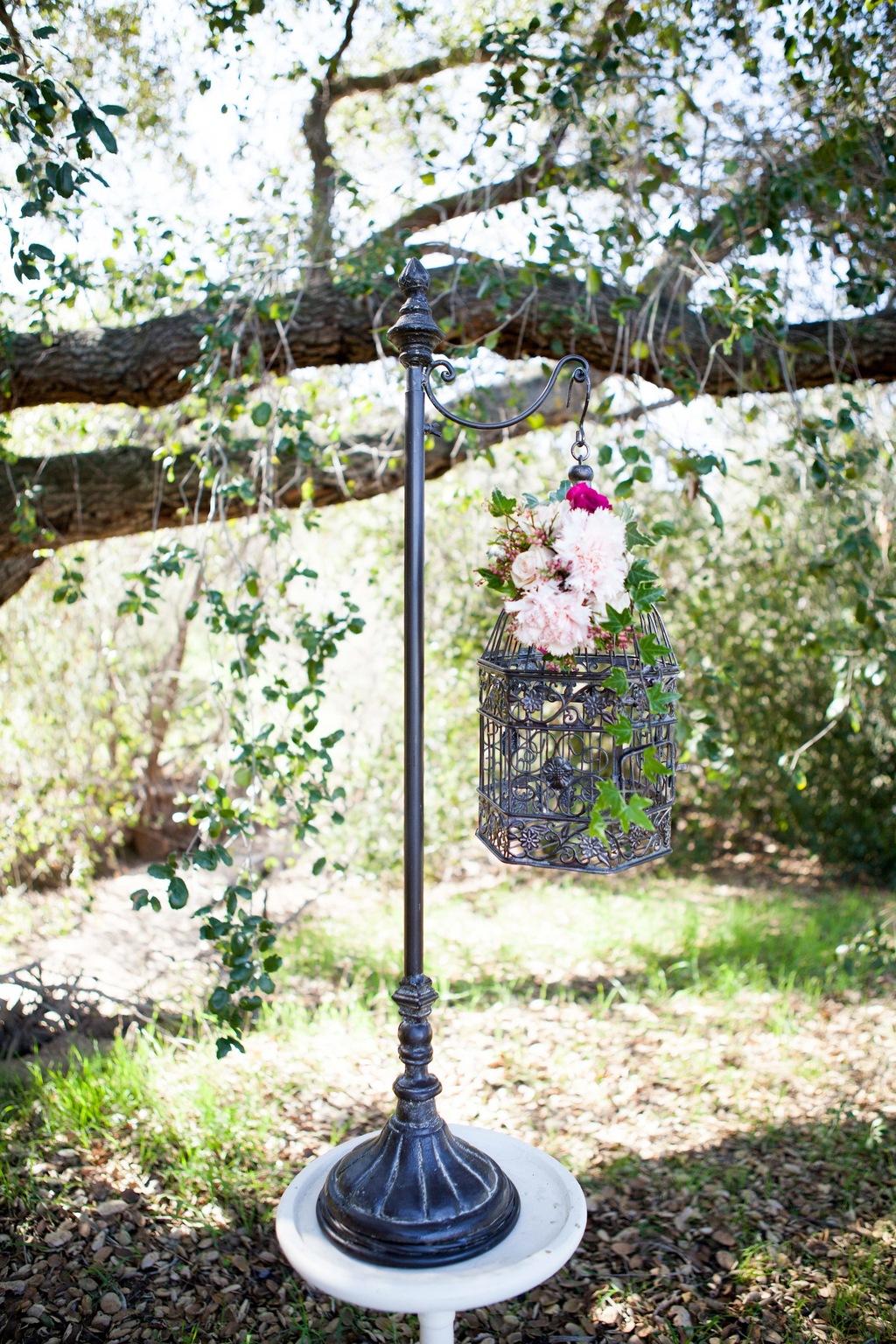 Vintage rustic wedding reception tables outdoor venue