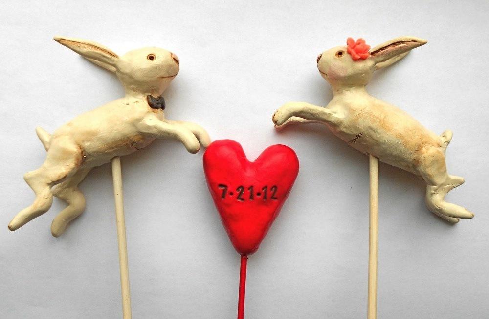 Bunny-love-wedding-cake-topper-for-spring.full