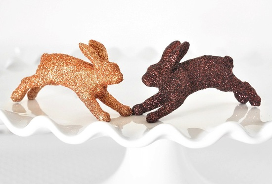 Gold and Copper Bunnies for Wedding Cupcakes