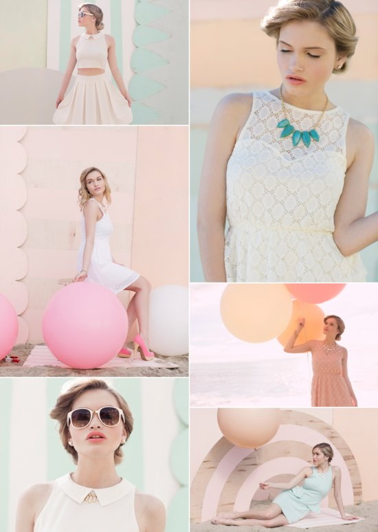 photo of Spring Pastels with a Retro Twist